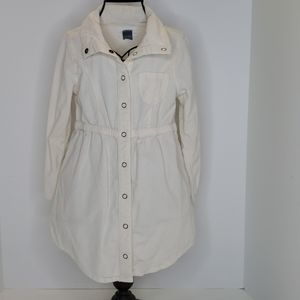 Old Navy off white corduroy shirt dress